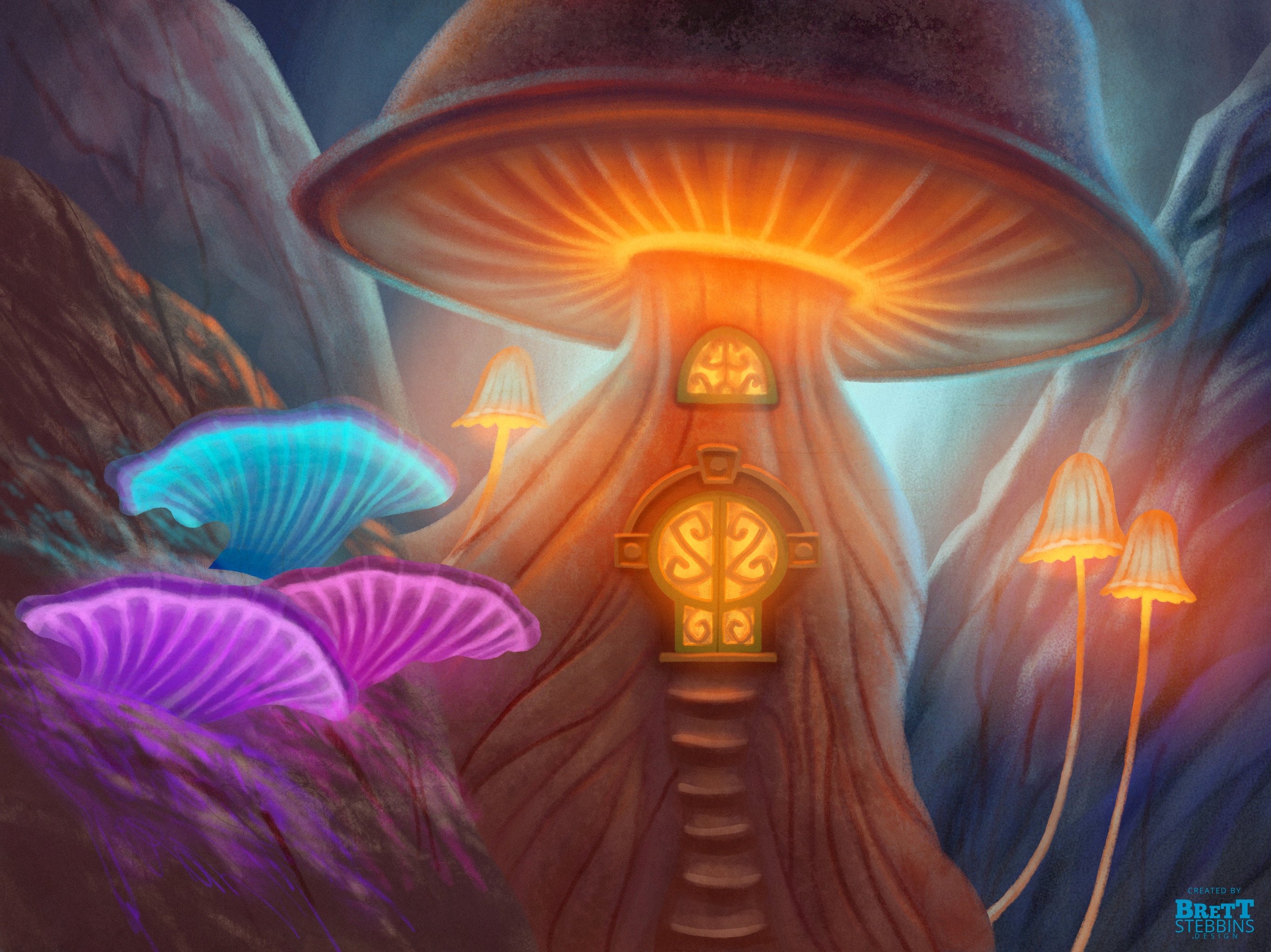 Mushroom House Concept Art