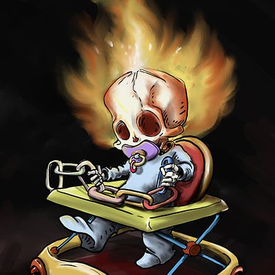 Ronald bousseau baby ghost rider w
