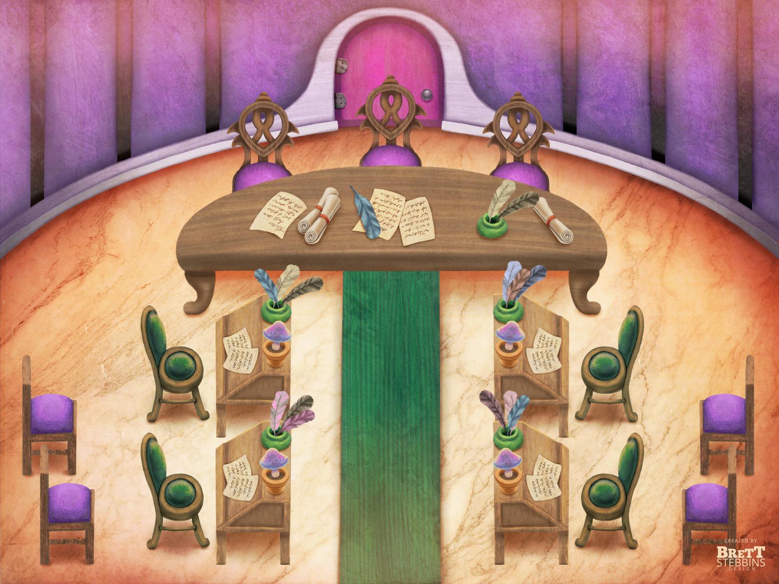 Luminare Saga - Vampire Elders Scribe Room Concept Art