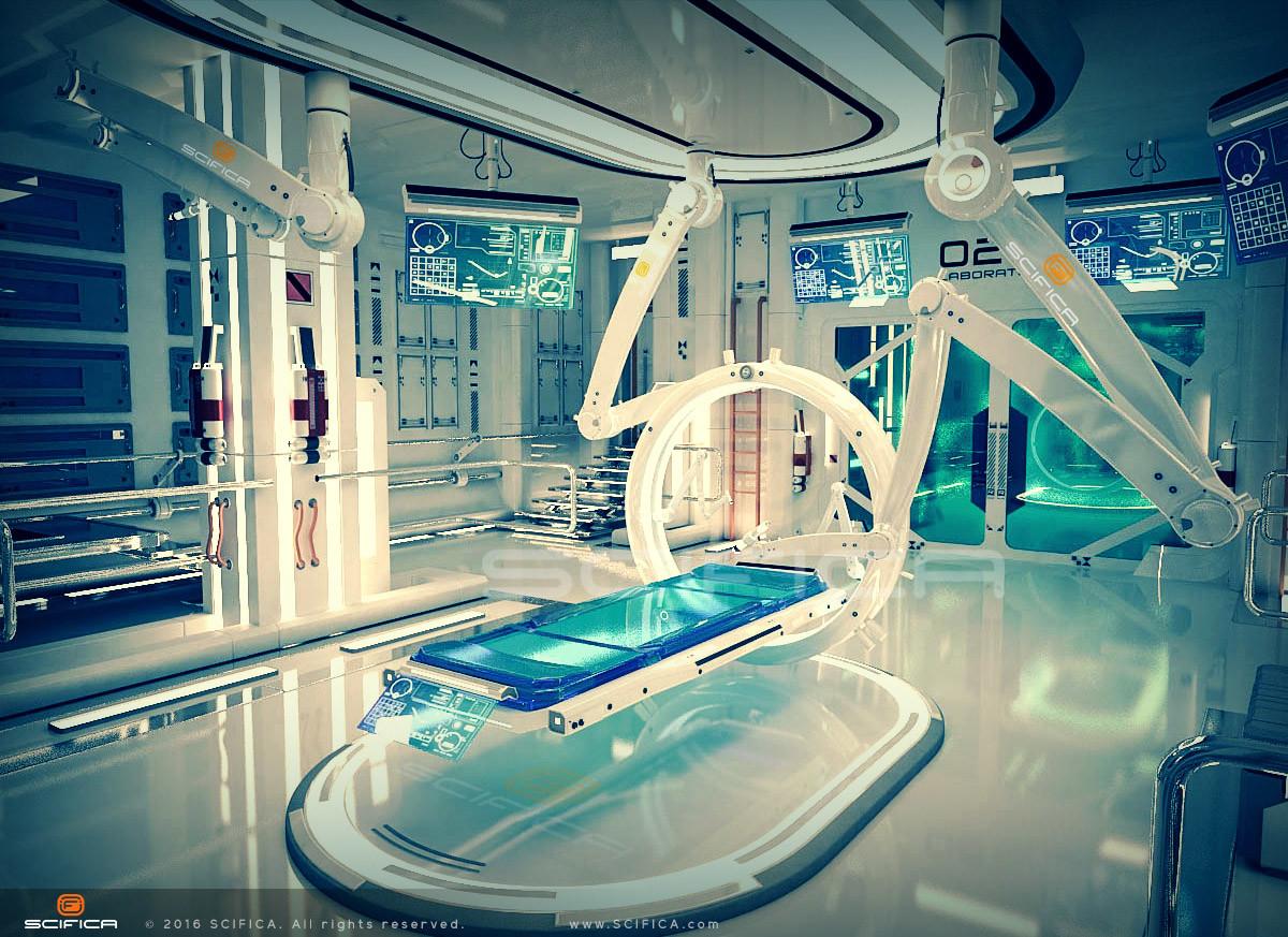 Artstation Scifi Laboratory Interior Design 3d Model
