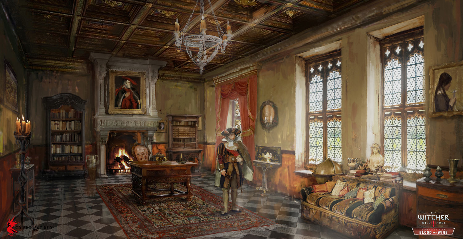artstation the witcher 3 blood and wine interior 1