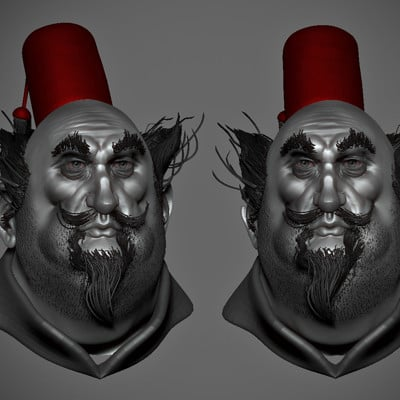 3D sculpt based upon a 2D concept by #jeanbaptistemonge by #pierrebenjamin