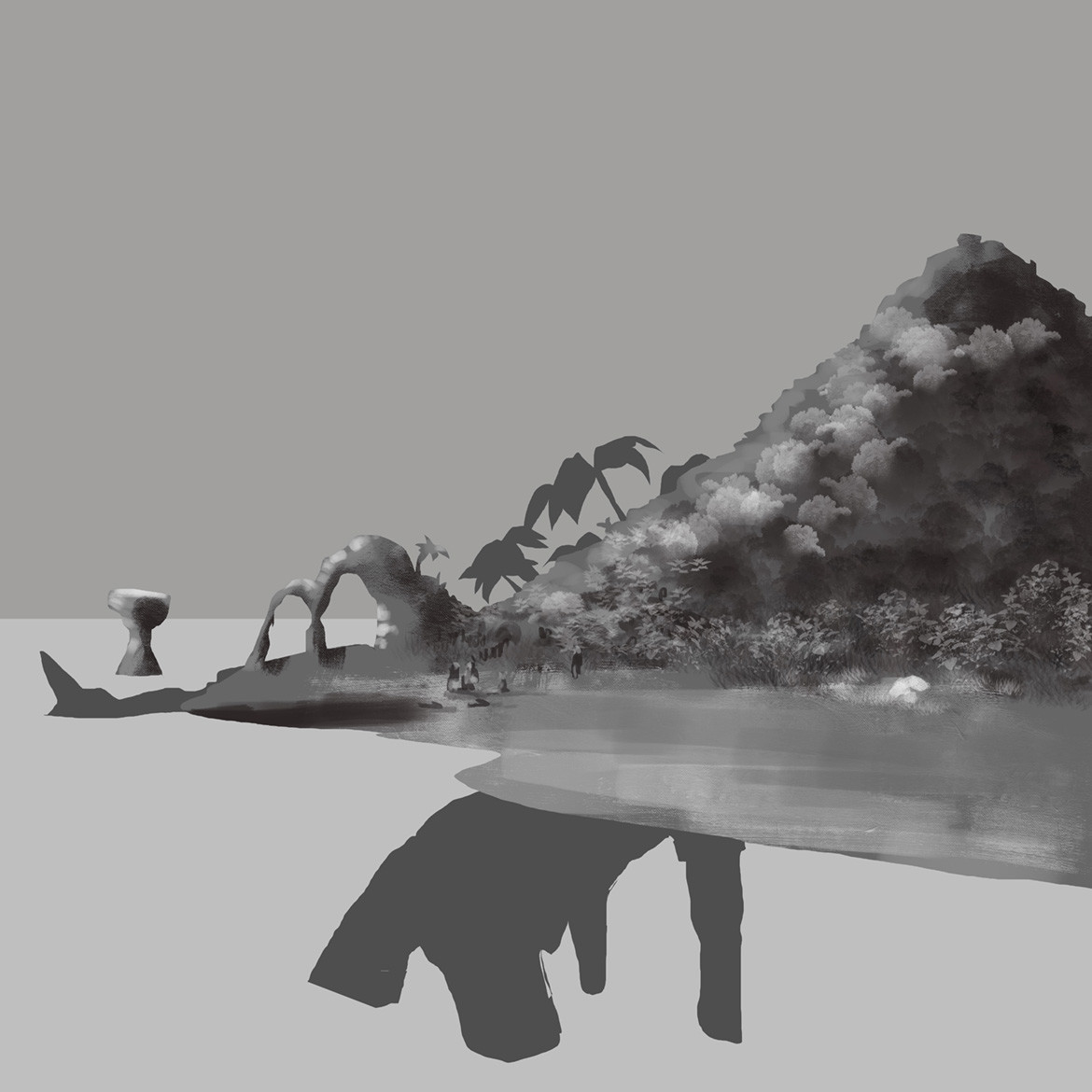I tried the greyscale first approach.