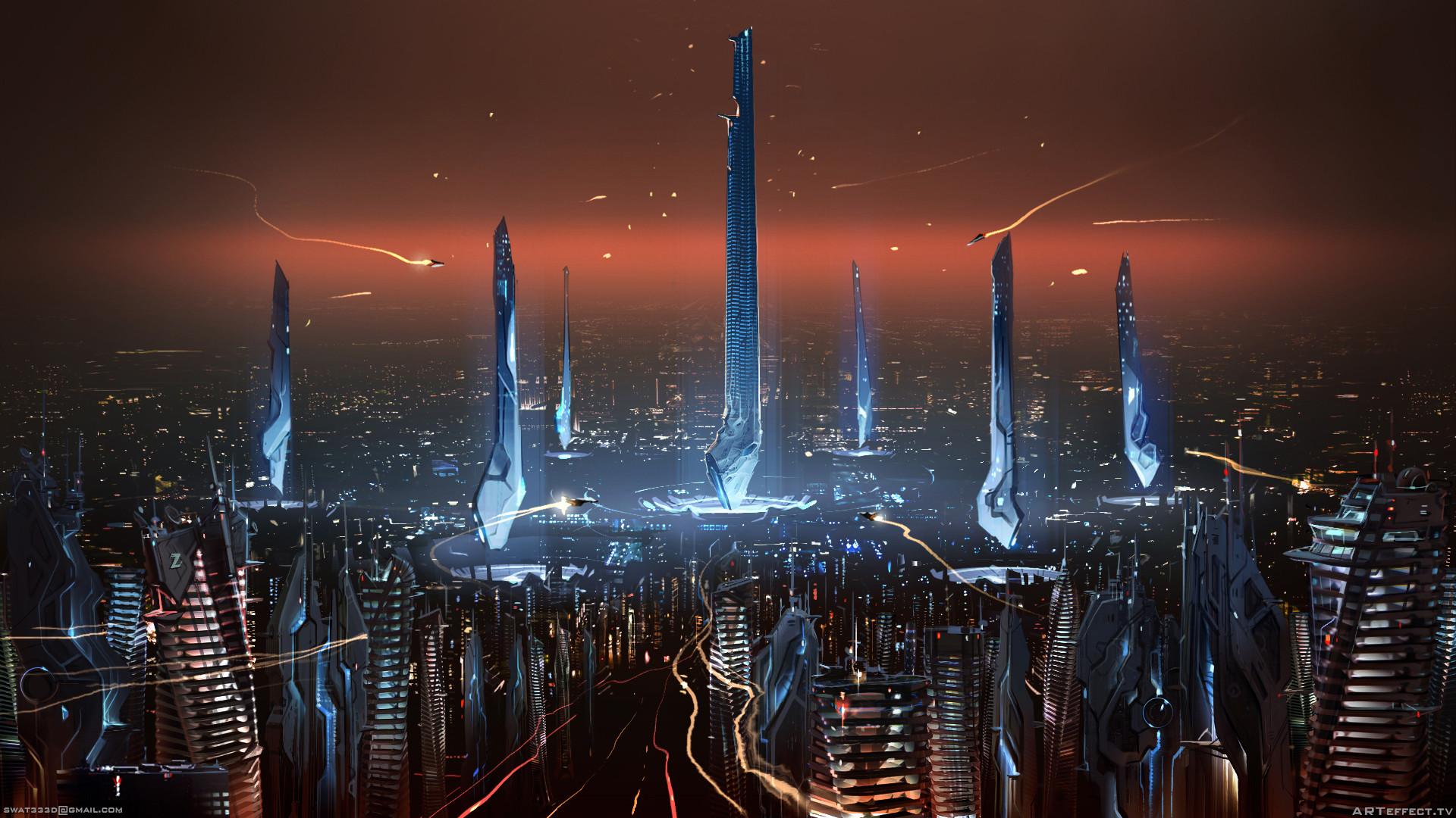 Parametric City - panoramic view