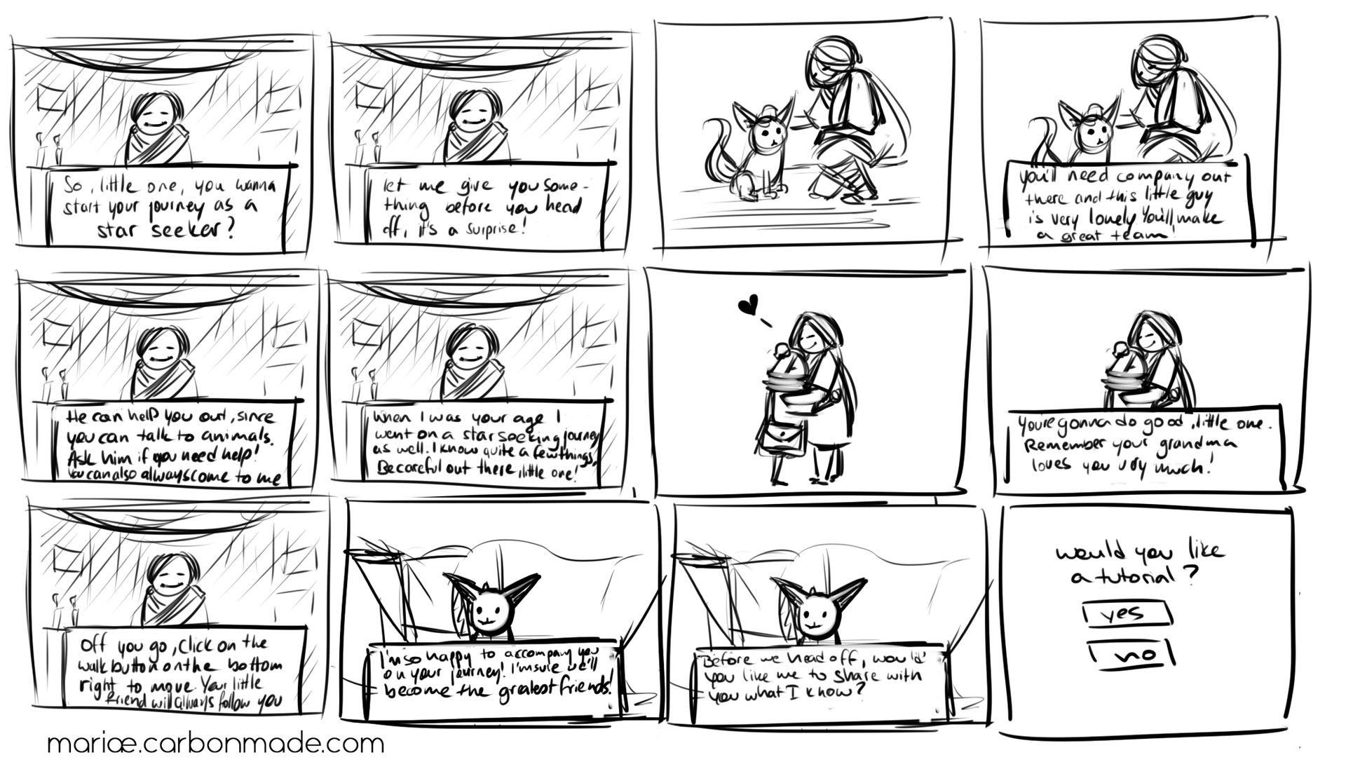 Game Intro Scene Storyboard
