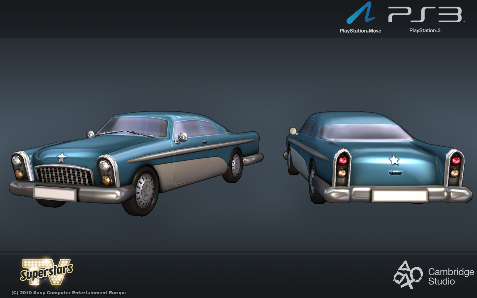 The 60's American style car that was a prize for successful players.