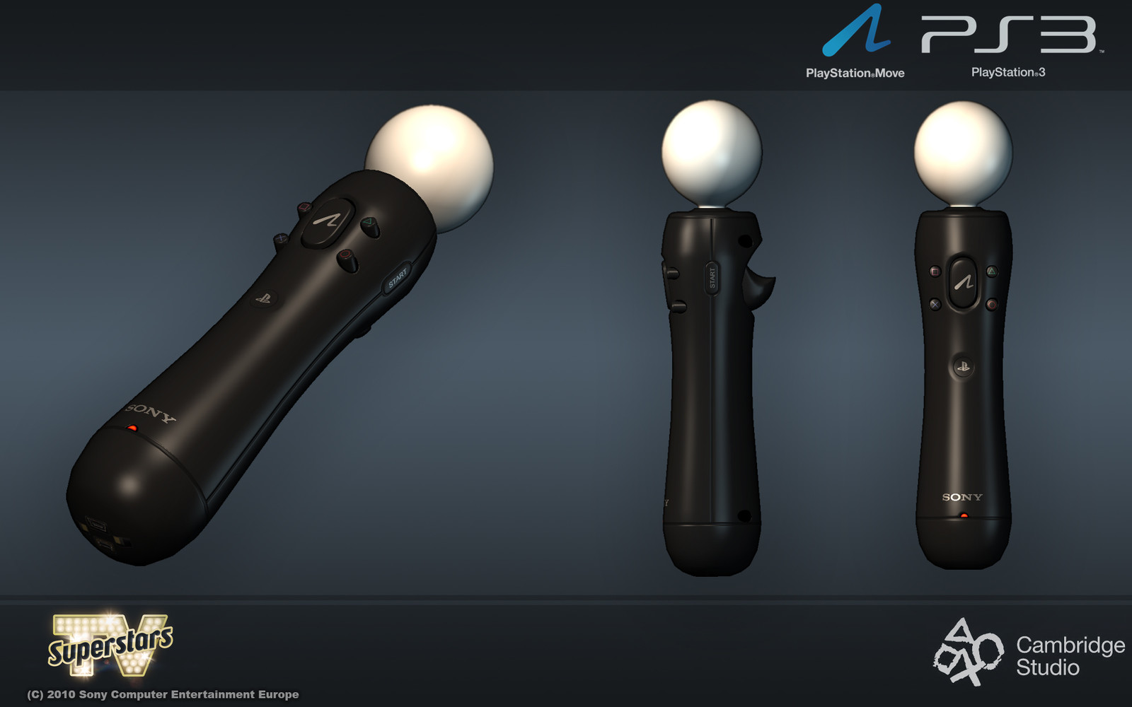 The official PS Move controller that made it into various other PS Move titles.