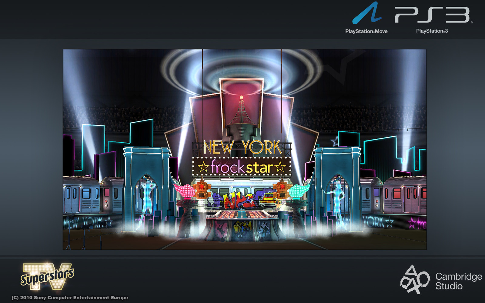 New York level: I helped produce the background and central section as well as the train asset.