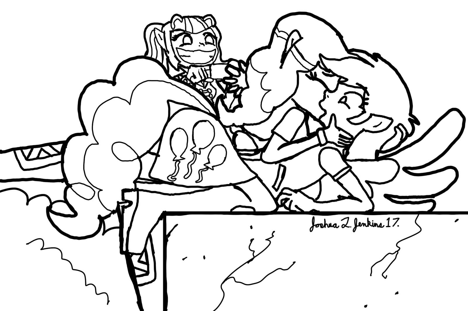 - ArtStation - Pinkie Pie Kisses Rainbow Dash, Joshua Jenkins