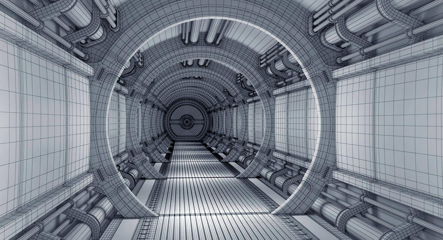 ArtStation - Sci Fi Spaceship Corridor, Vladimir Manzenko