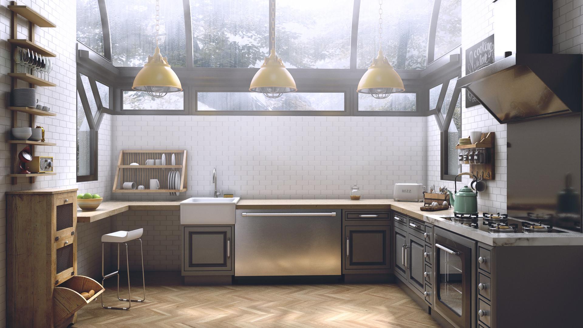 Rakan khamash kitchen 1 render