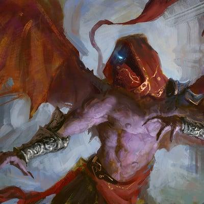Sebastian horoszko 84 slightly evil winged dude