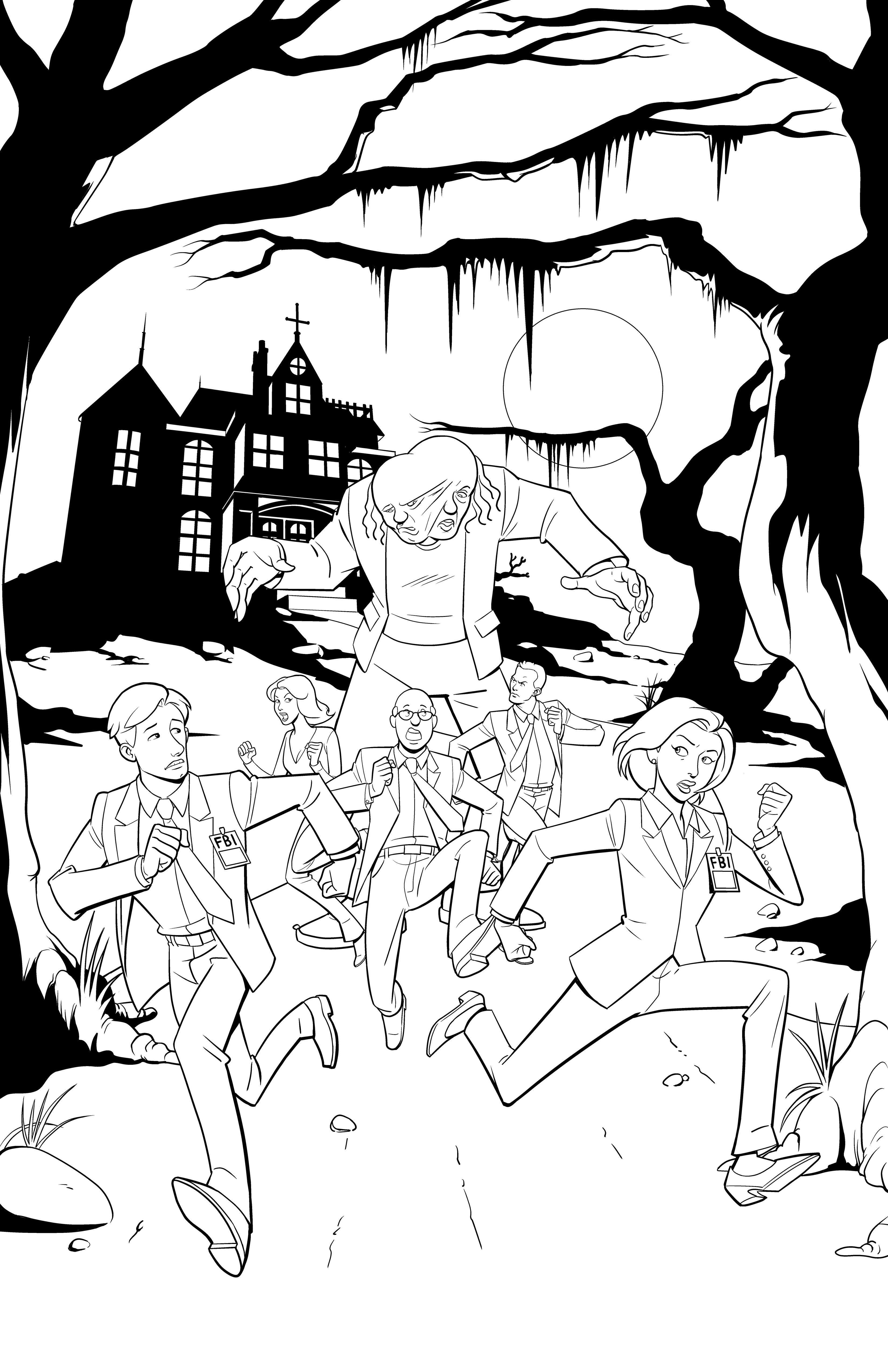 The X-Files Get Animated : inks