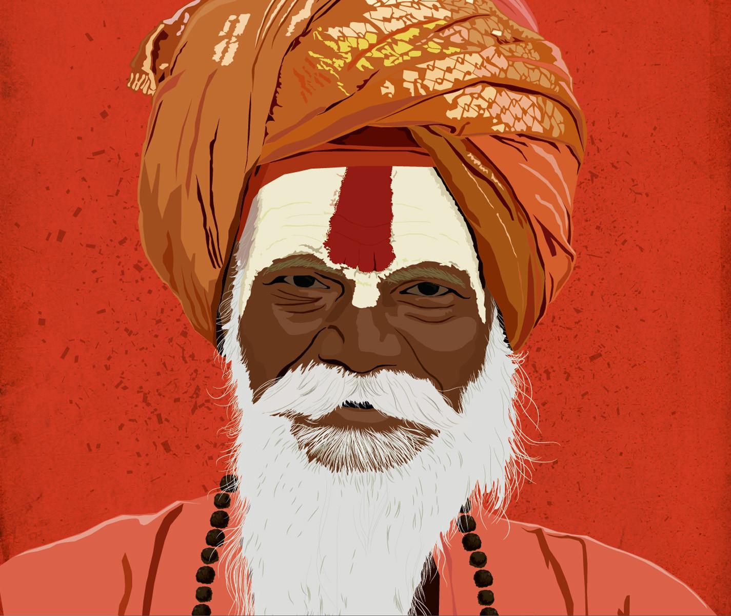 Rajesh sawant sadhu closeup 2