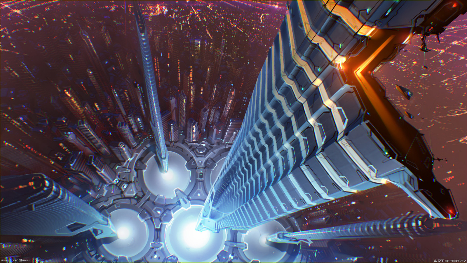 Sci-Fi Citty Center Top view