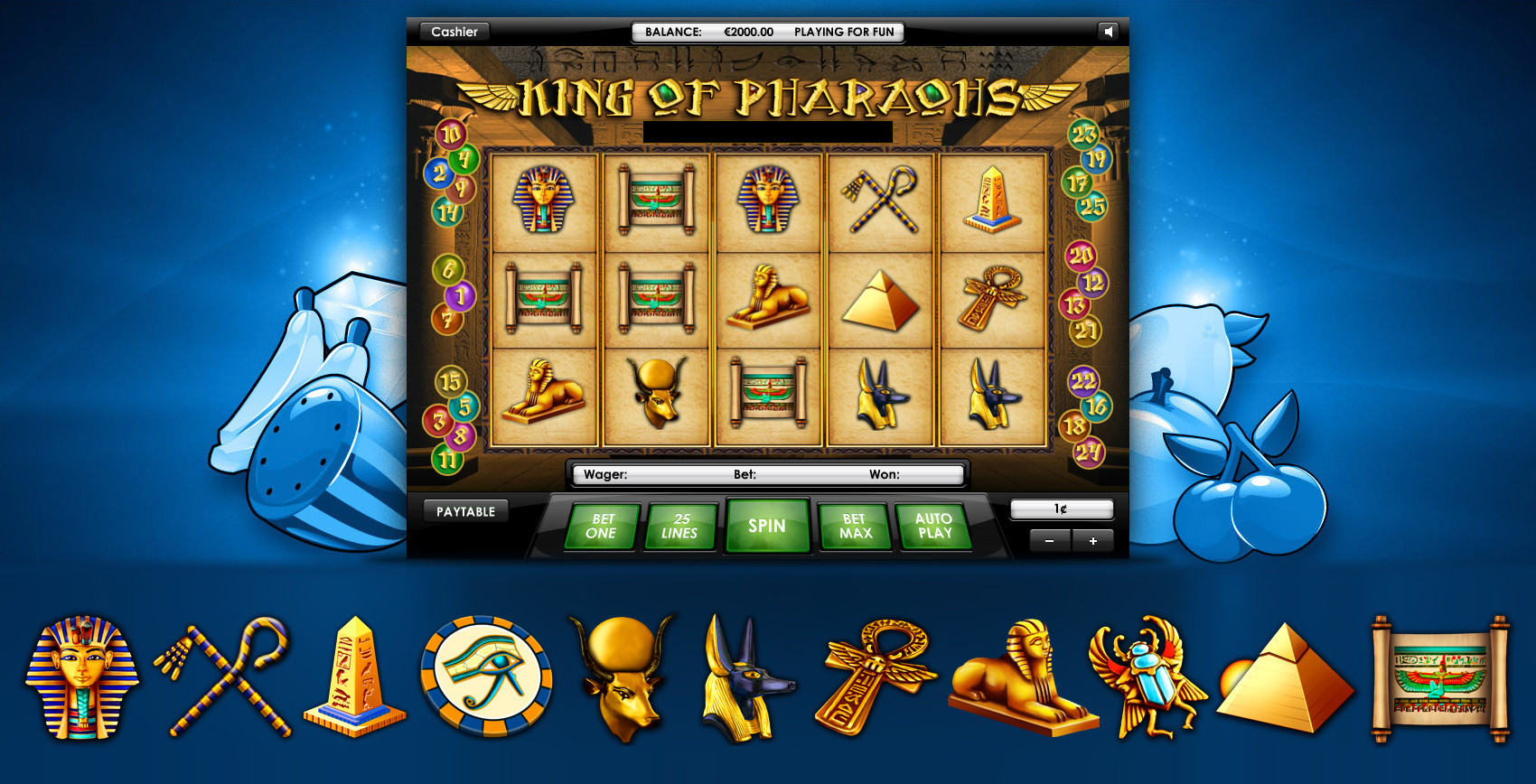 ArtStation - UI Design for Online Casino slot machine game, Anton Cermak
