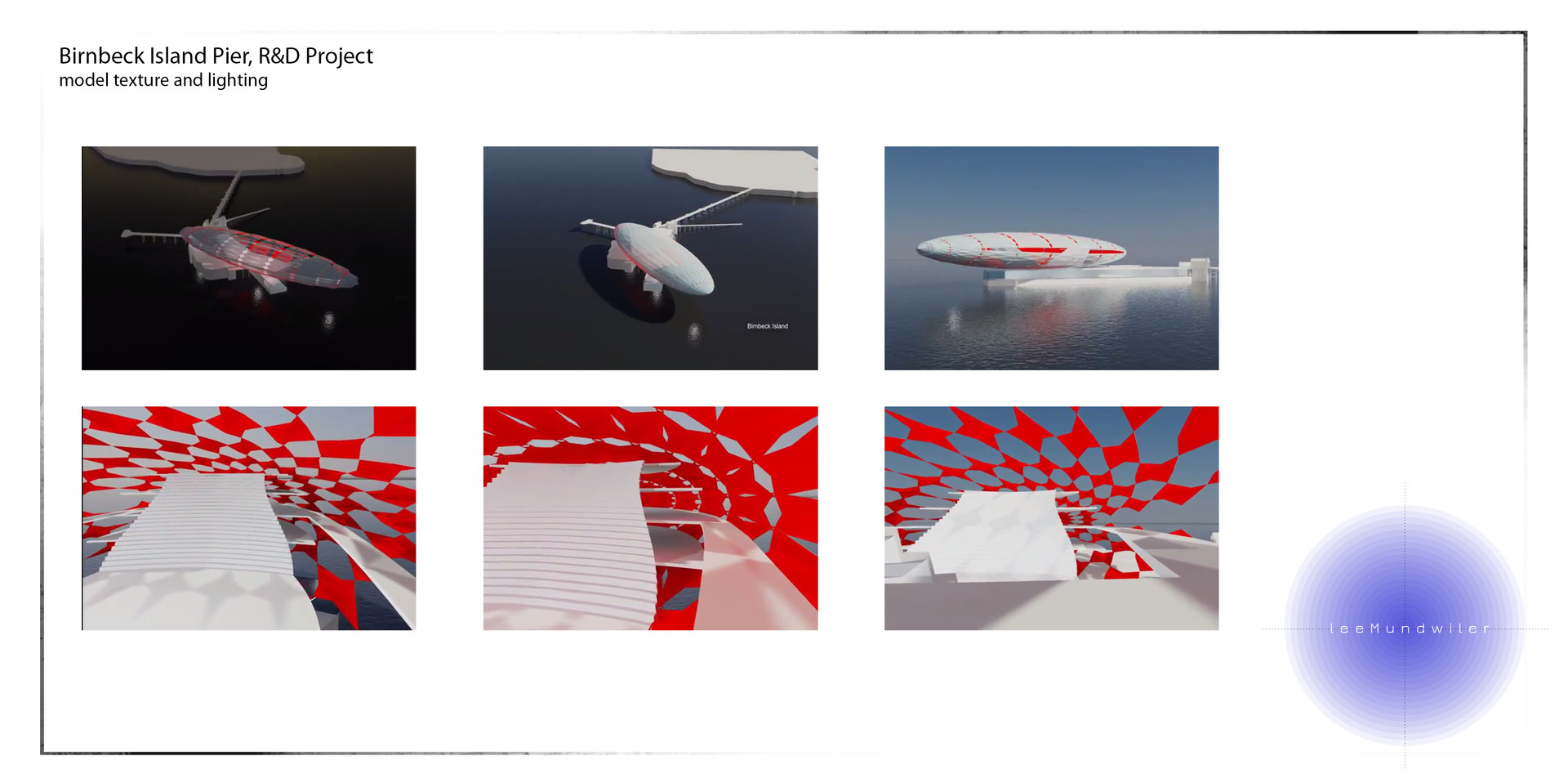Birnbeck Island Pier redevelopment: Model, Structure animation texture and lighting