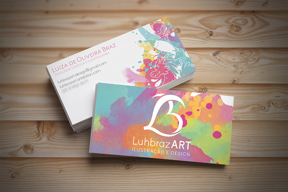 Luiza braz mockup luh s business card