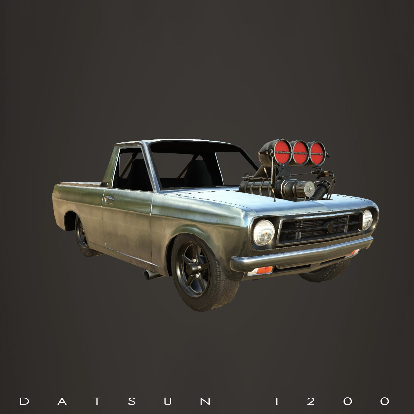 Torque Burnout Car - Datsun 1200 Sunny ute.