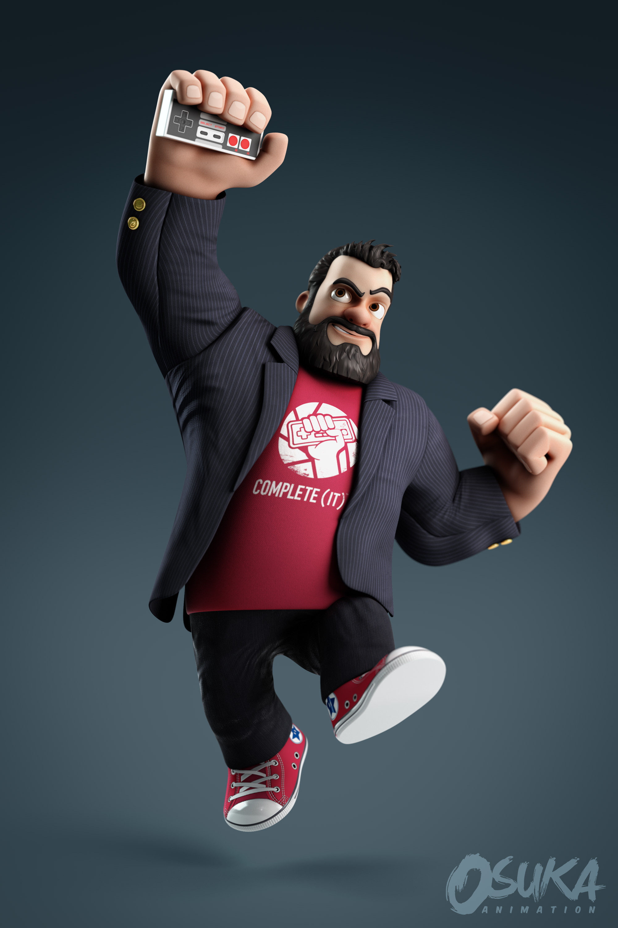 """""""The Completionist"""" render. Post Production"""
