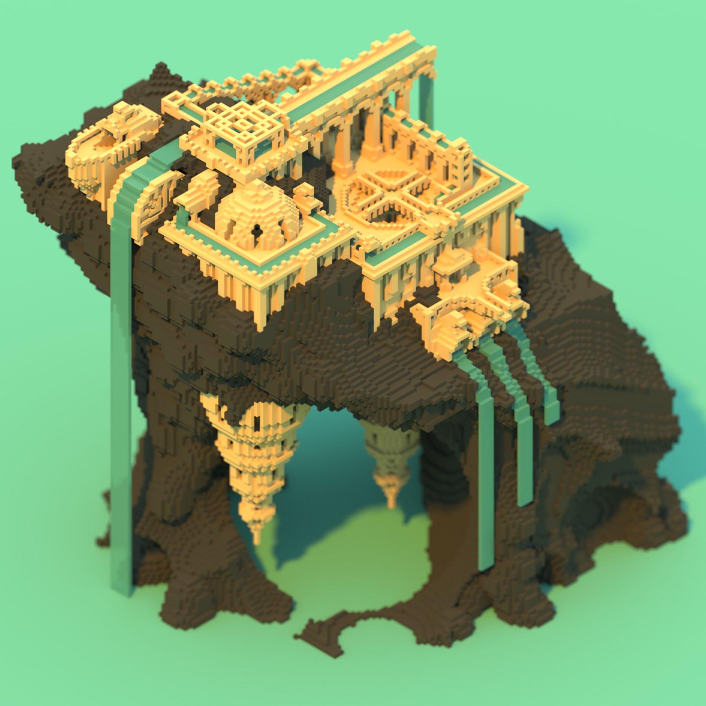 Alexander Ng - Voxel Water Temple