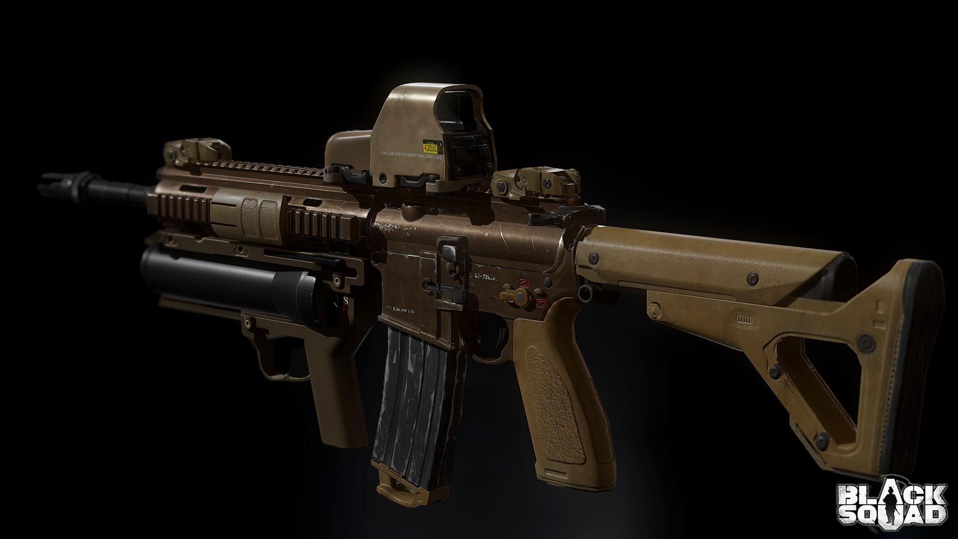 ArtStation  HK416 Assault Rifle Hong Kim