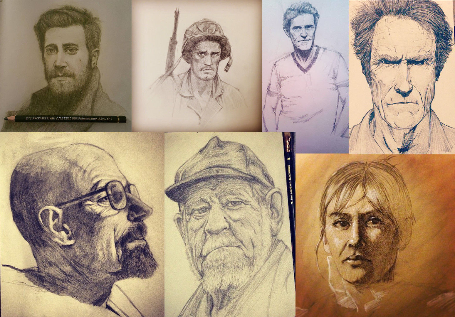 Austin balaich portrait drawings
