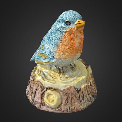 Vlx kuzmin small birdie 2 garden figurine scan