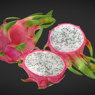 Vlx kuzmin dragon fruit pitaya full for 3dscanfruitveg