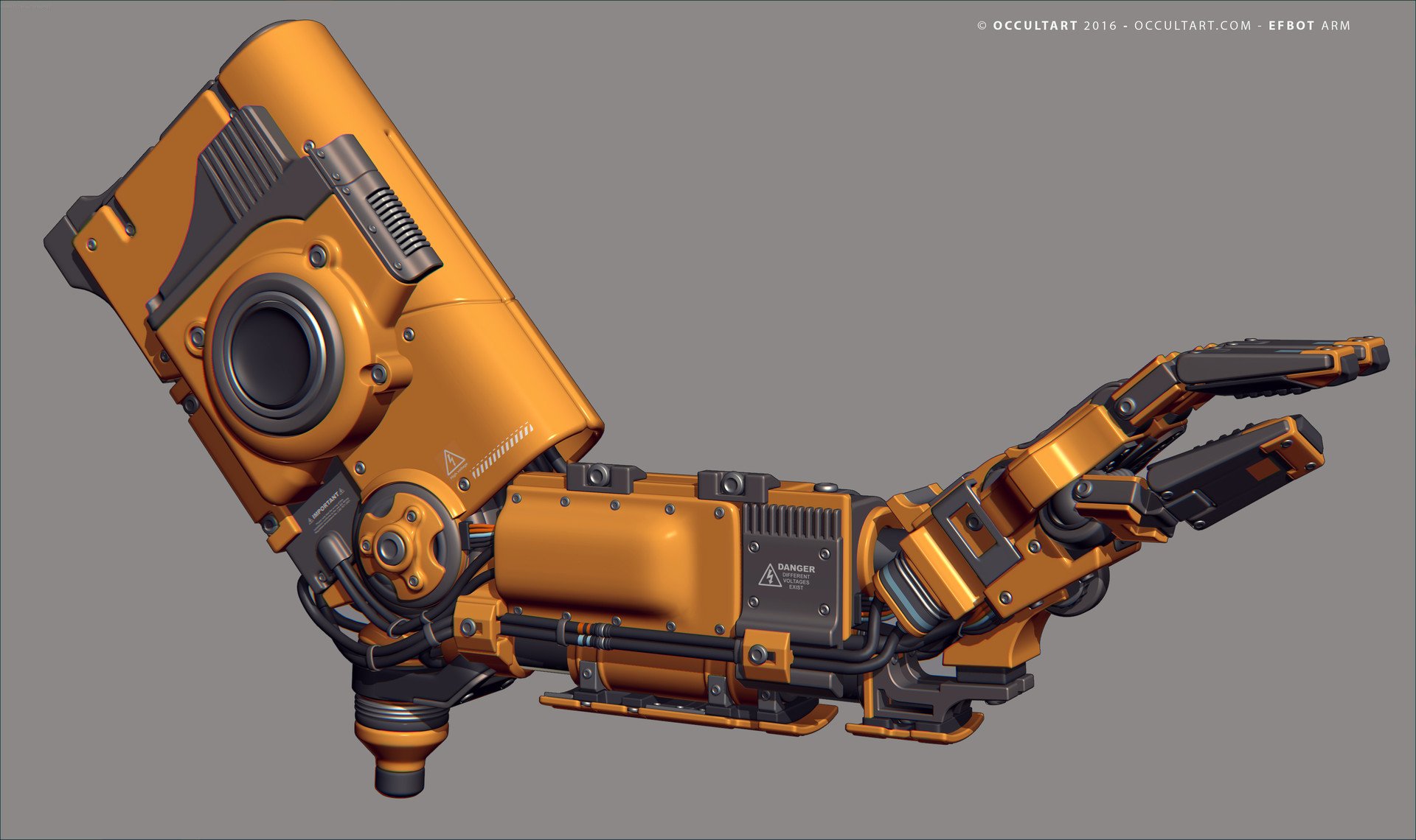 Occultart   occultart efbot yellow arm 12