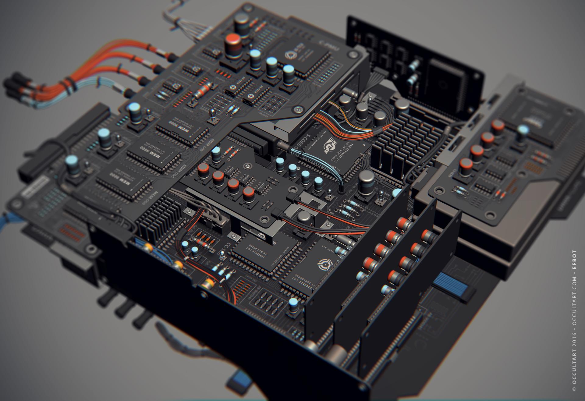 Occultart   occultart efbot brain electronics 07