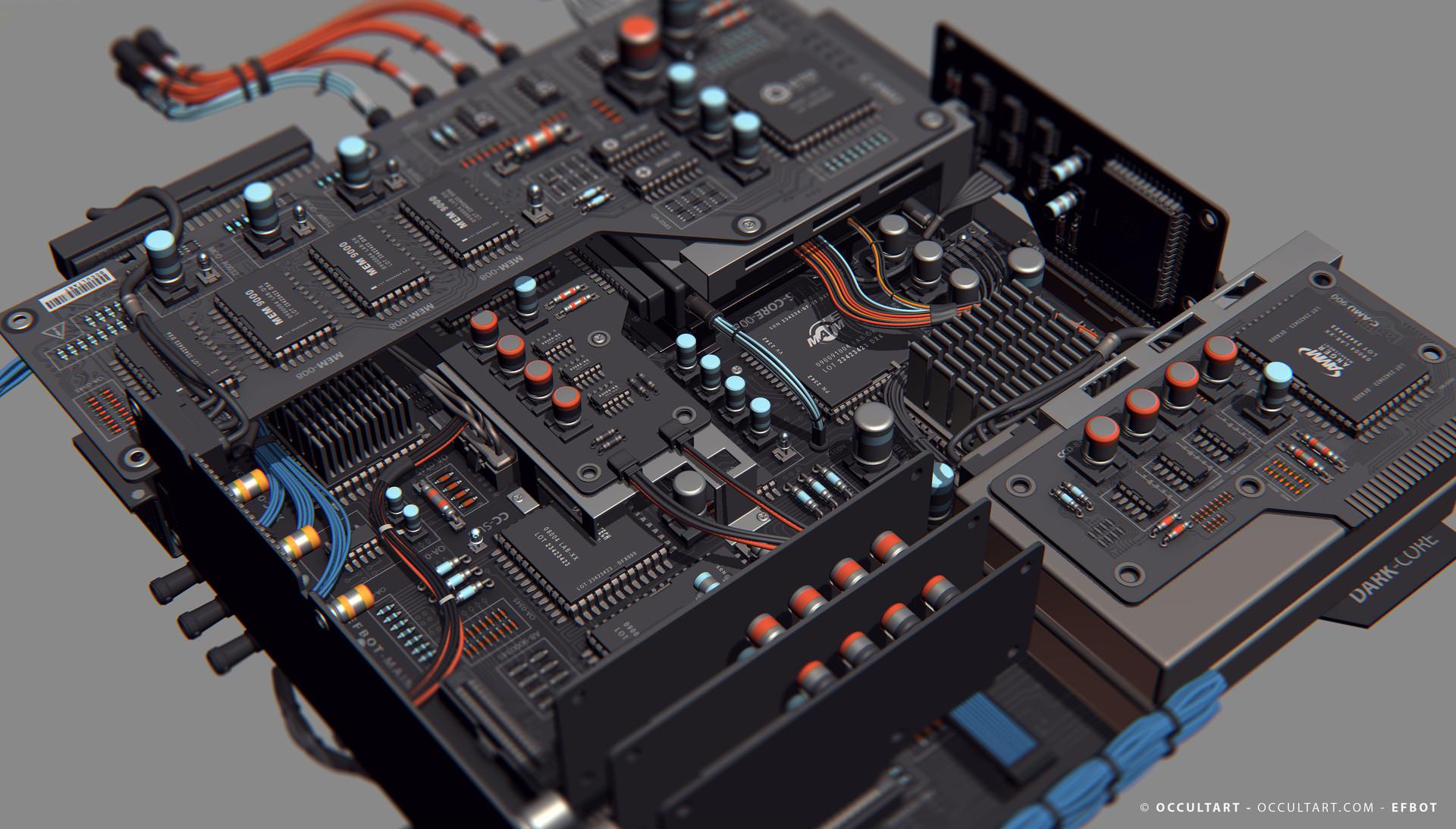 Occultart   occultart efbot brain electronics 09