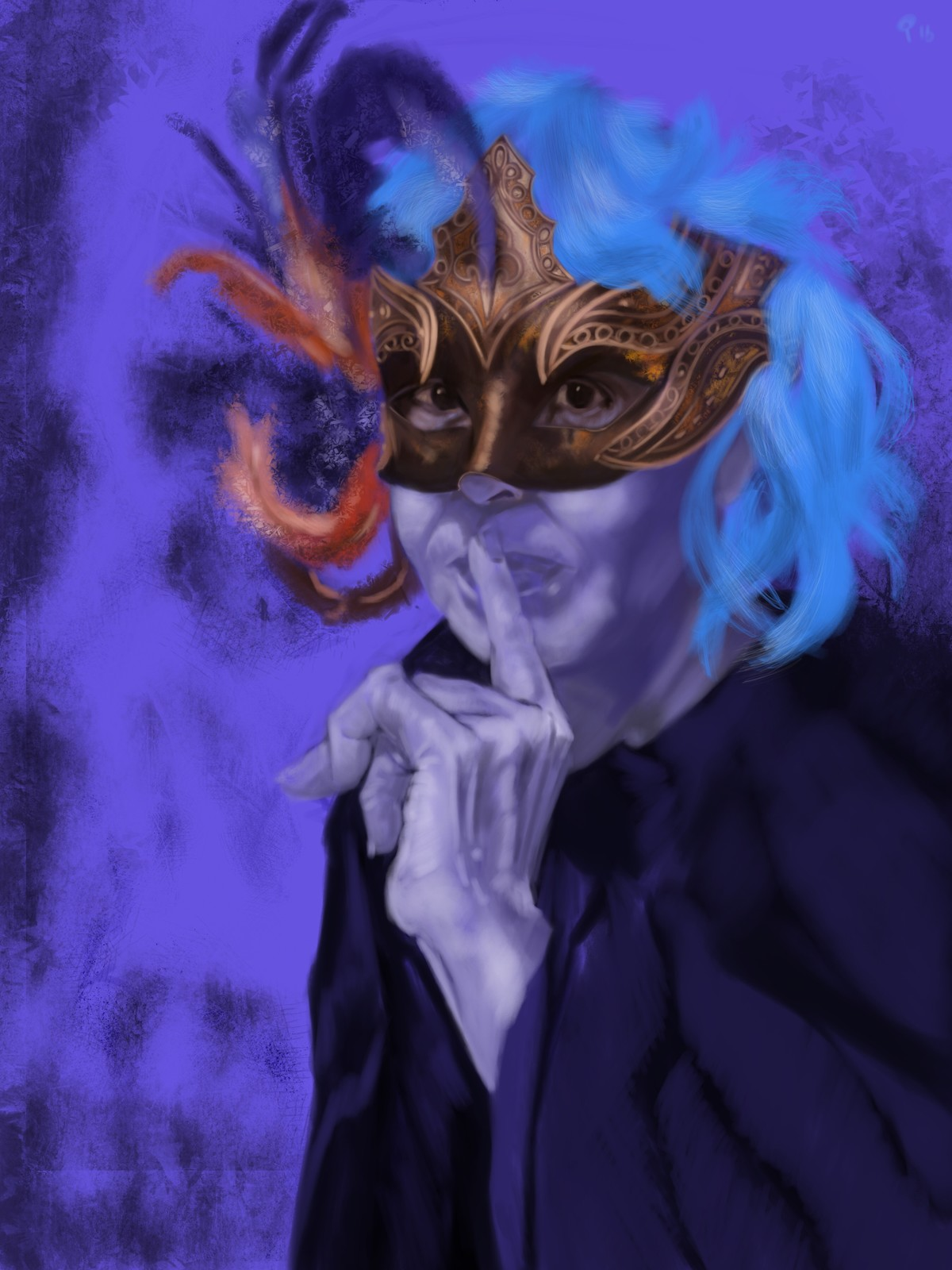 Masque of the Red Death - Blue room