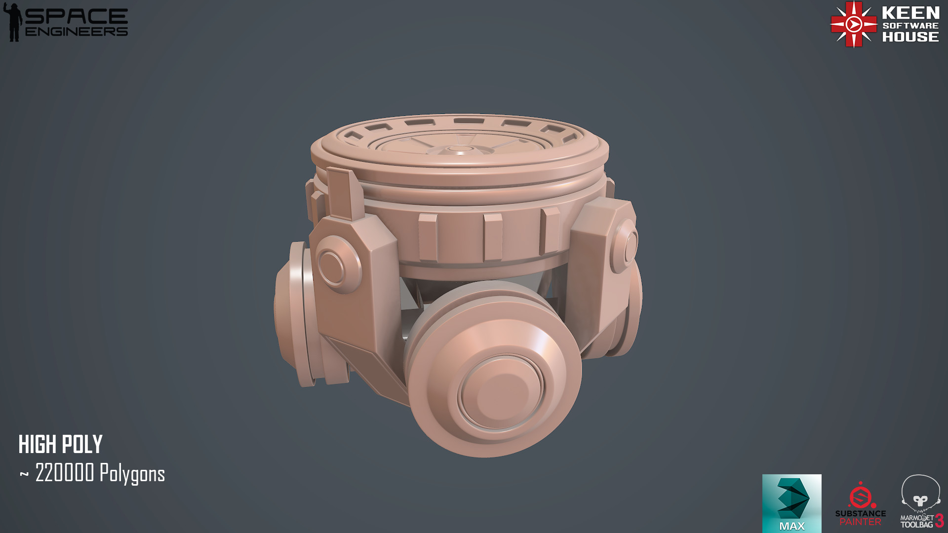 High Poly Clay Render