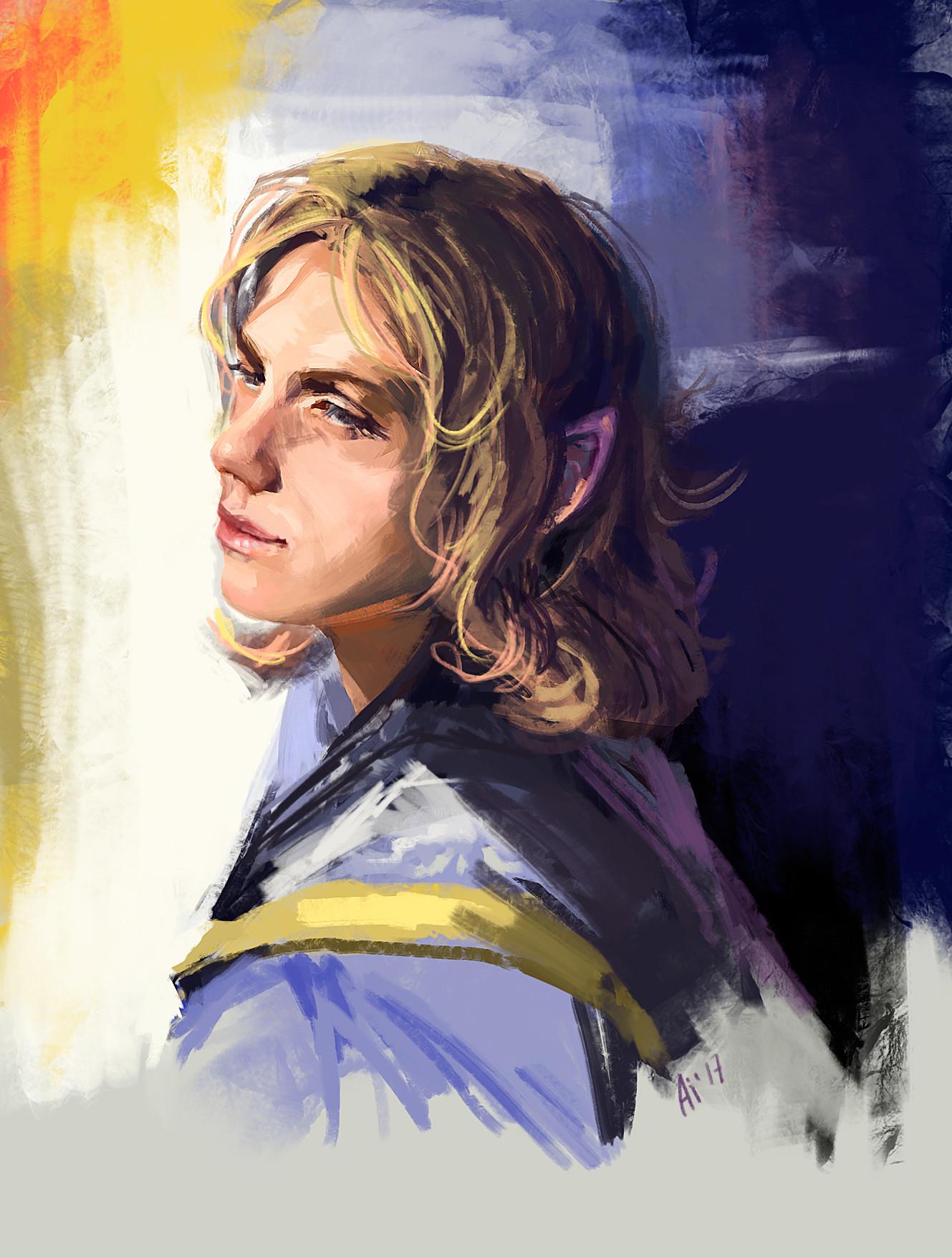 Artstation Sketch Portrait Male Elf Julia Zhdanova