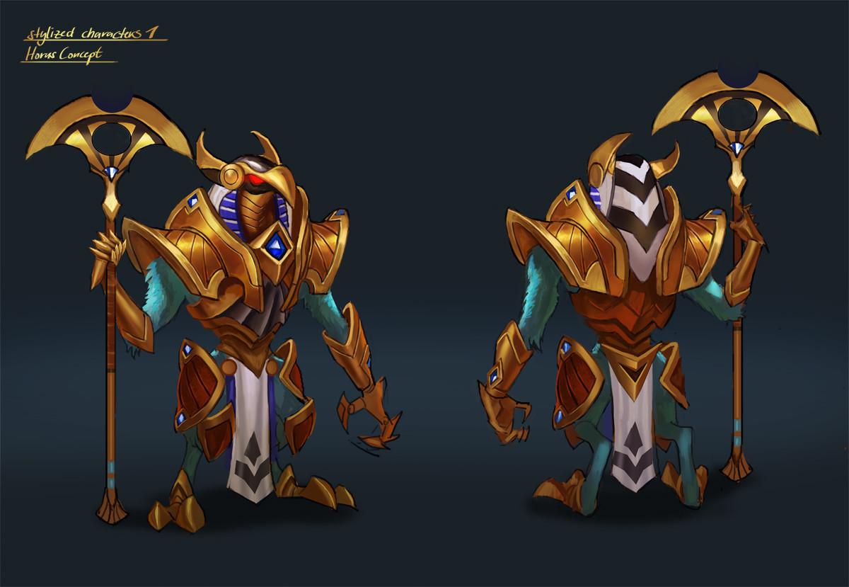 stylized characters 1 - Horus