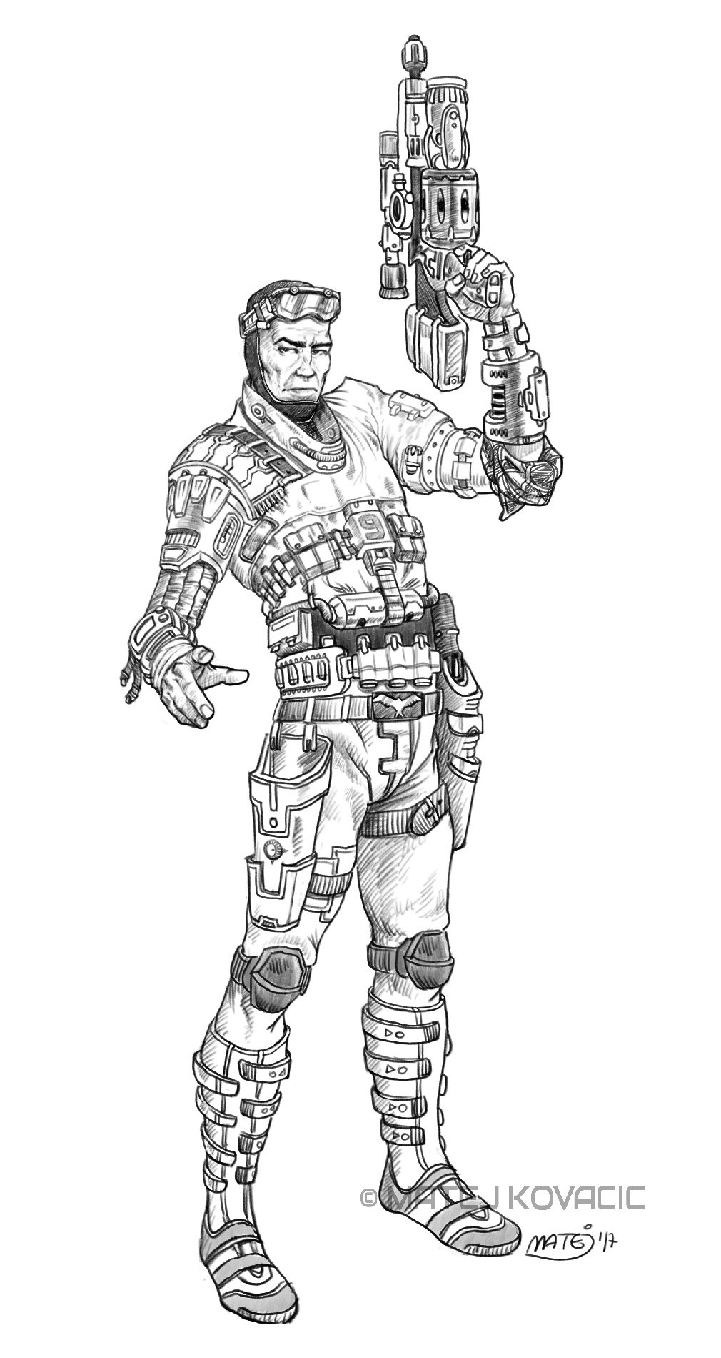 Matej kovacic sci fi soldier by matej kovacic