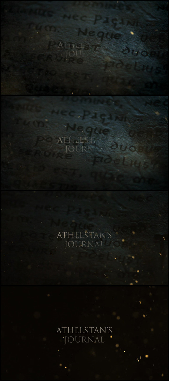 Latin writing, used during title sequence.