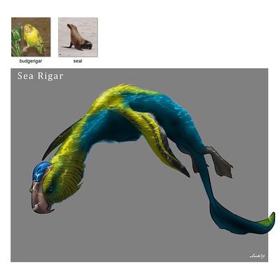 Midhat kapetanovic random creature mashup 014 sea rigar