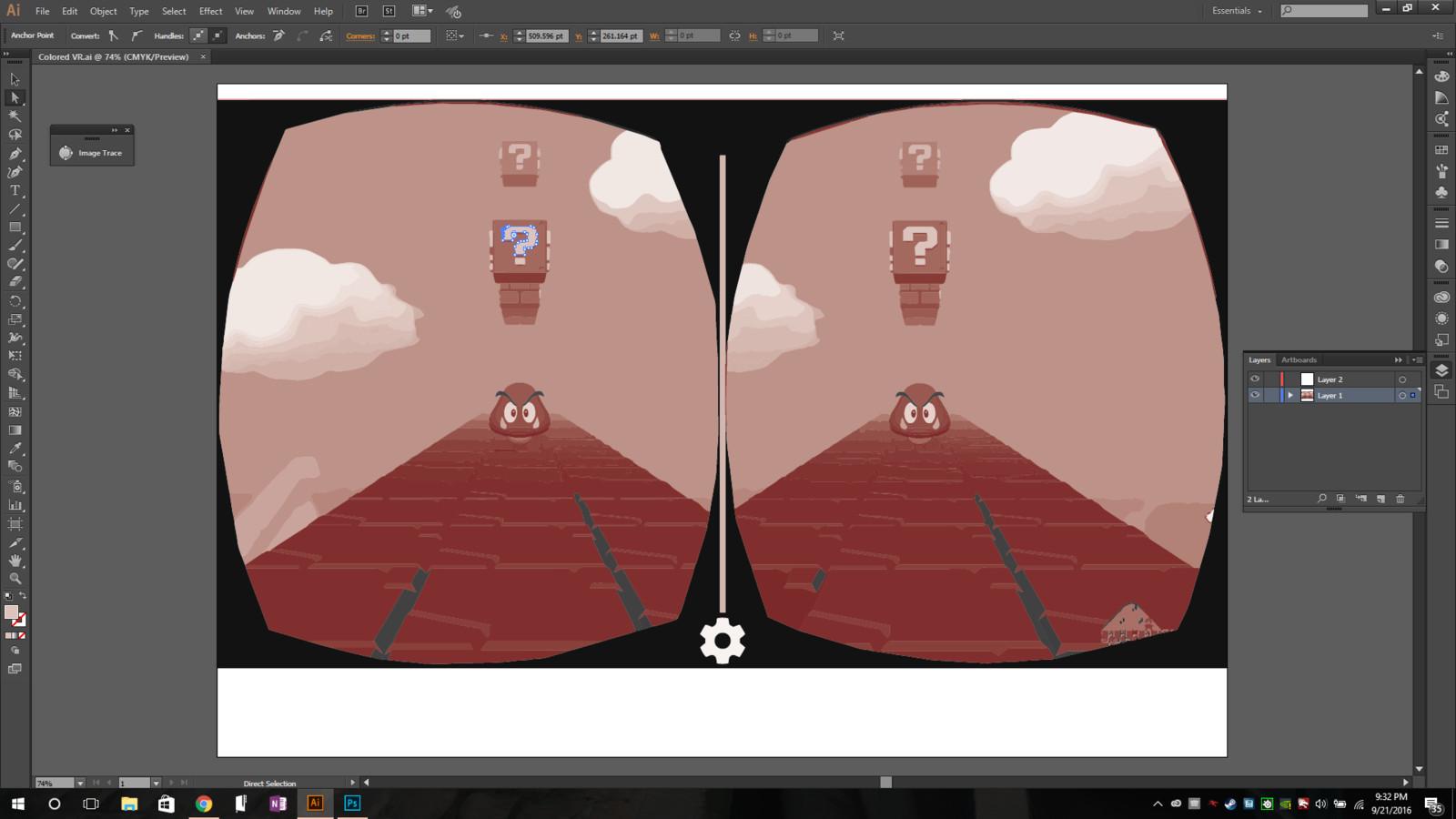 VR Mono-color Mario Spoof