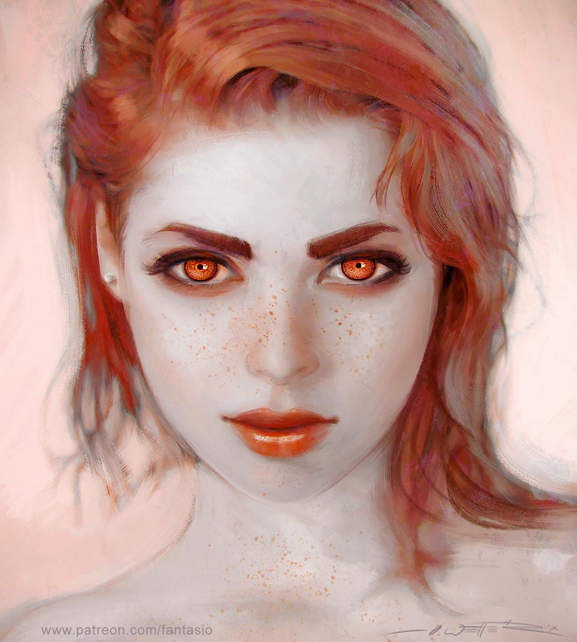 Freckles Portrait Study