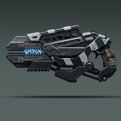 Evozon game studio gun concept art