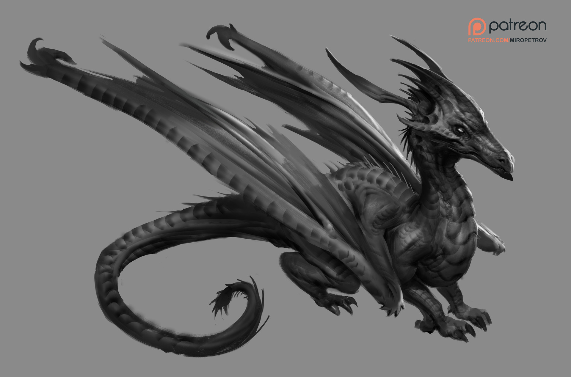 Miroslav petrov dragon sketch
