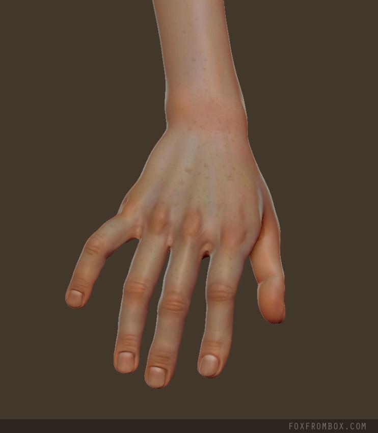 Hand close up