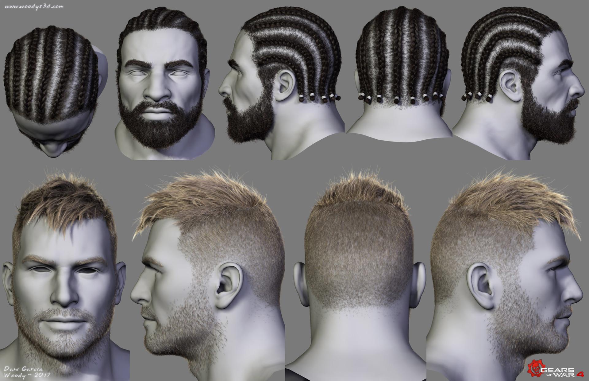 Artstation Gears Of War Hairstyles 03 Dani Garcia