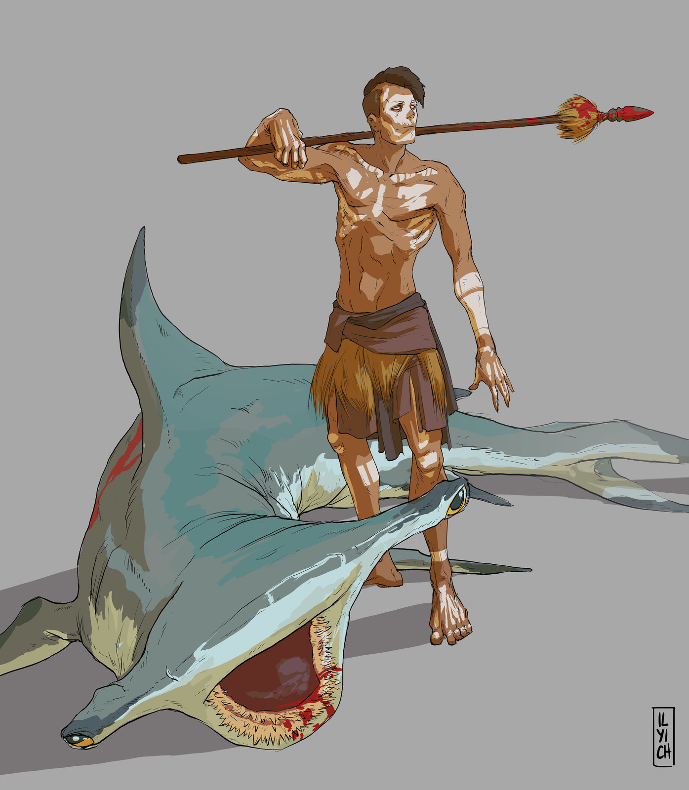 Maori shark hunter