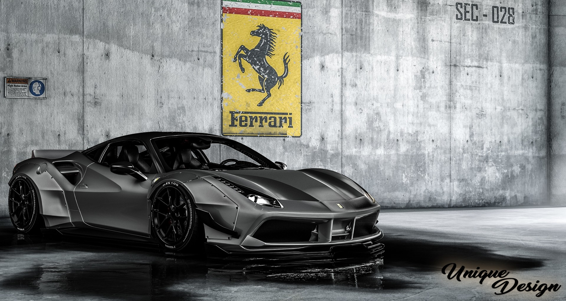 artstation ferrari 488 liberty walk widebody workshop. Black Bedroom Furniture Sets. Home Design Ideas