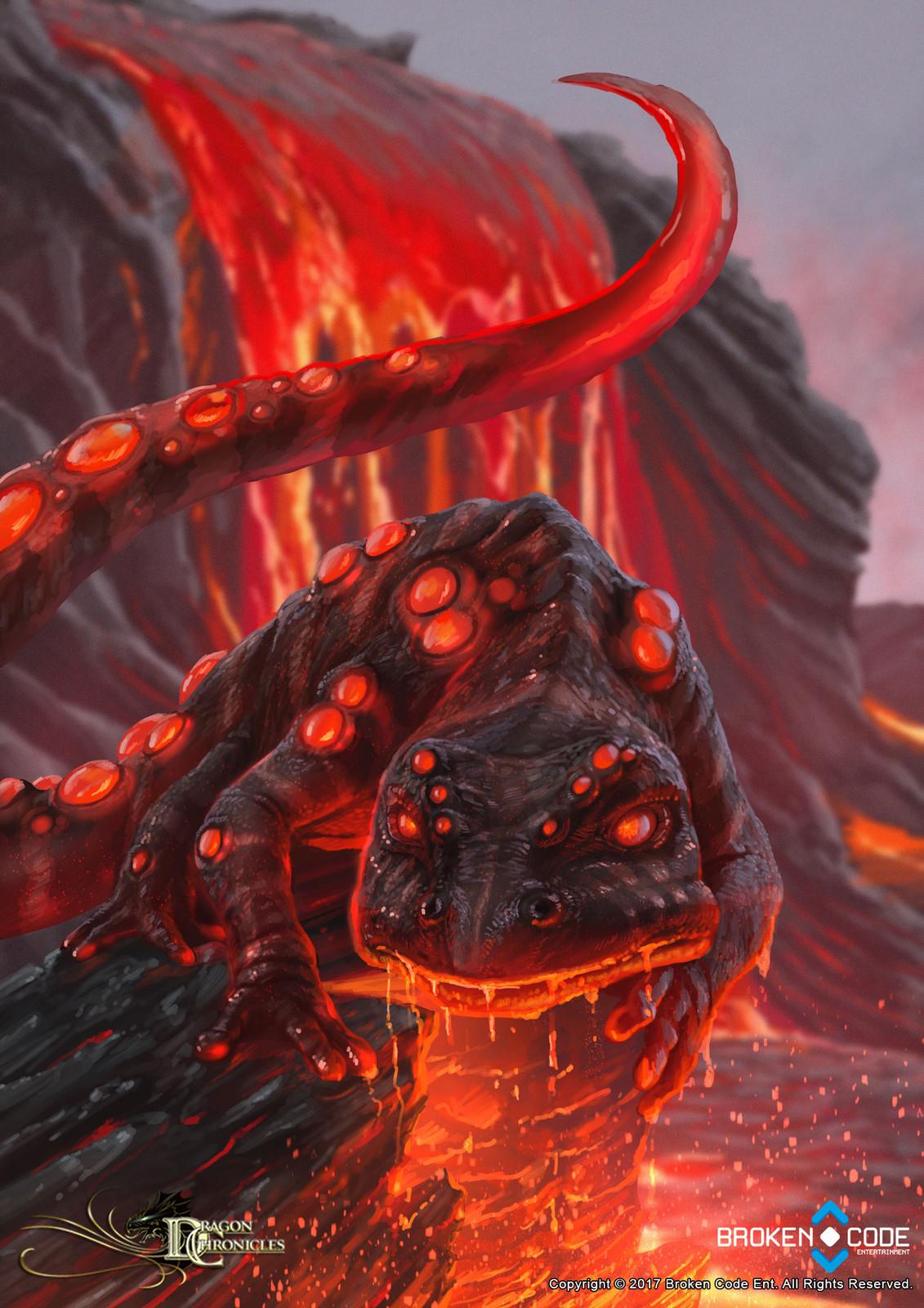 Striped Lava Salamander - Dragon Chronicles