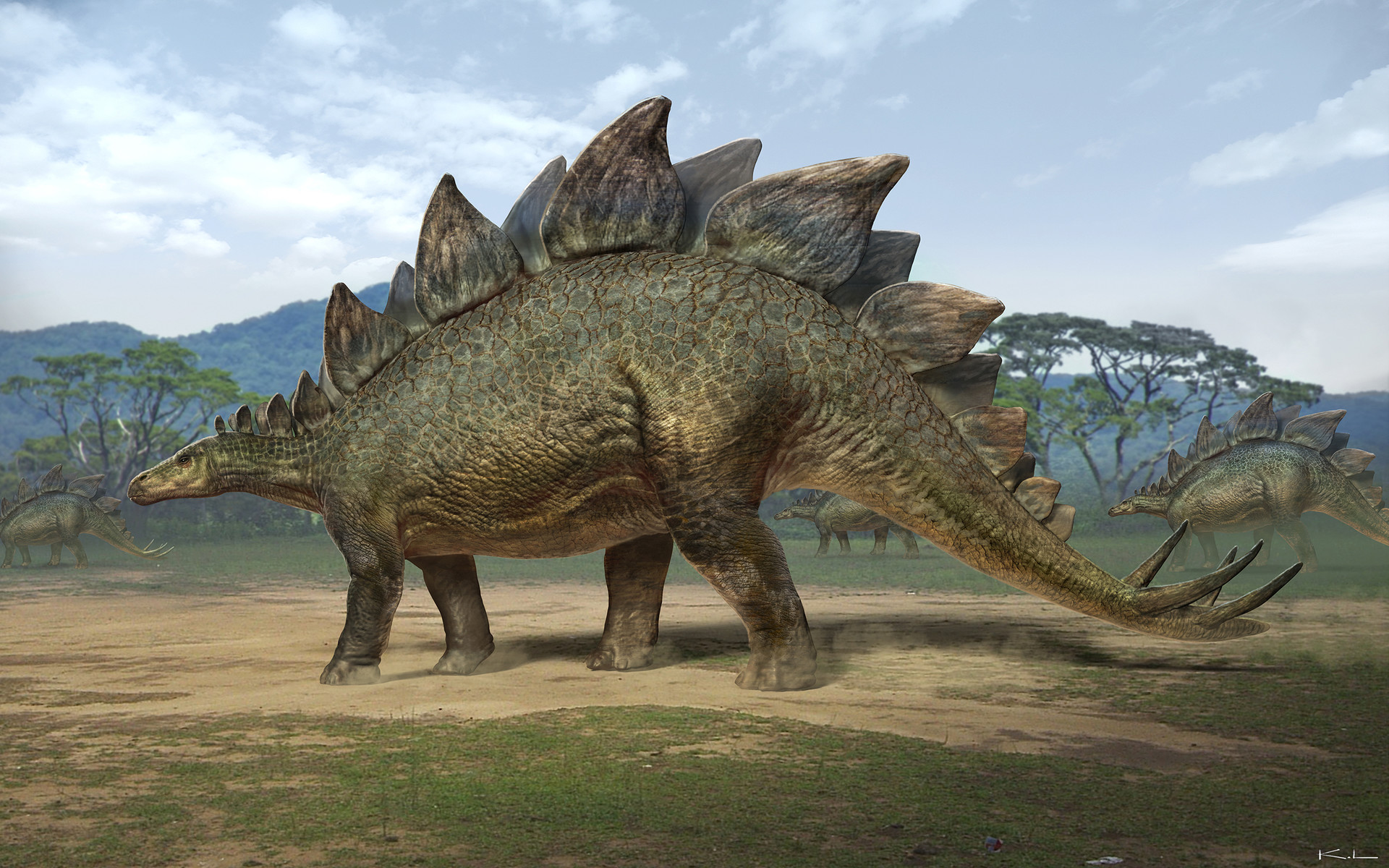 Karl lindberg jurassic world stegosaurus