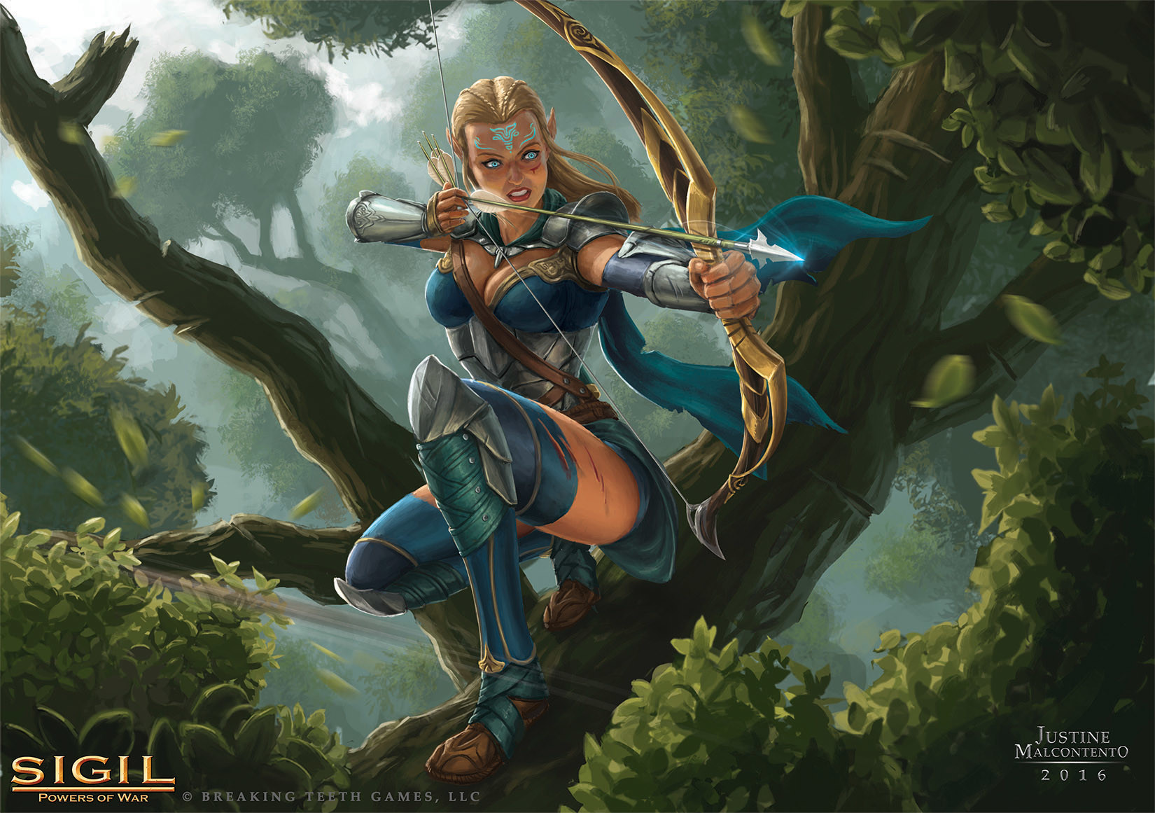 Archer Warrior Elves Fantasy Art Wallpapers Hd: Elite Elven Archer, Justine